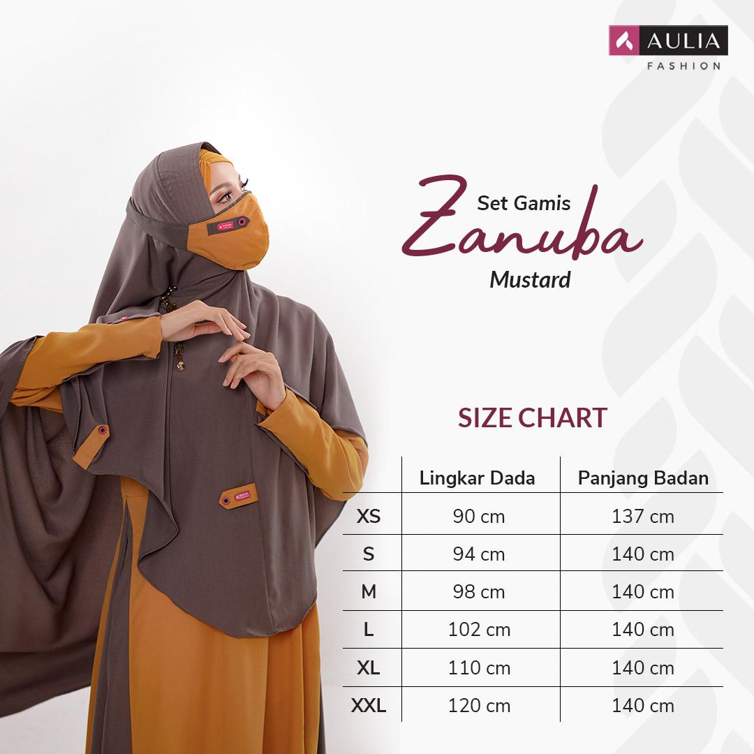 Set Gamis Zanuba Mustard Aulia Fashion