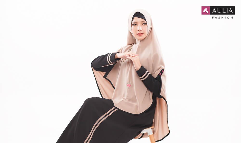 gamis simple elegan Gamis Aulia Fashion