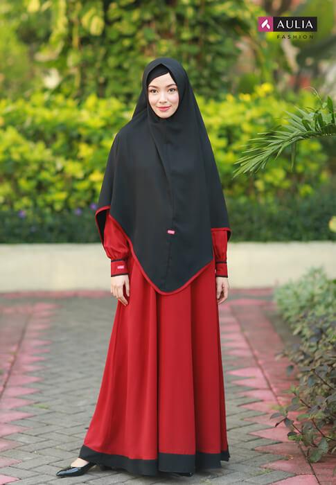 gamis warna scarlet - yumnaa scarlet Aulia Fashion 2