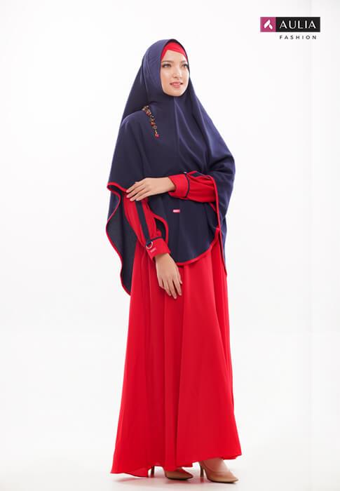gamis warna scarlet - yumnaa scarlet Aulia Fashion 5