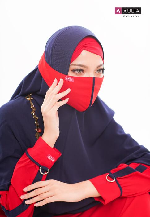 gamis warna scarlet - yumnaa scarlet Aulia Fashion 7
