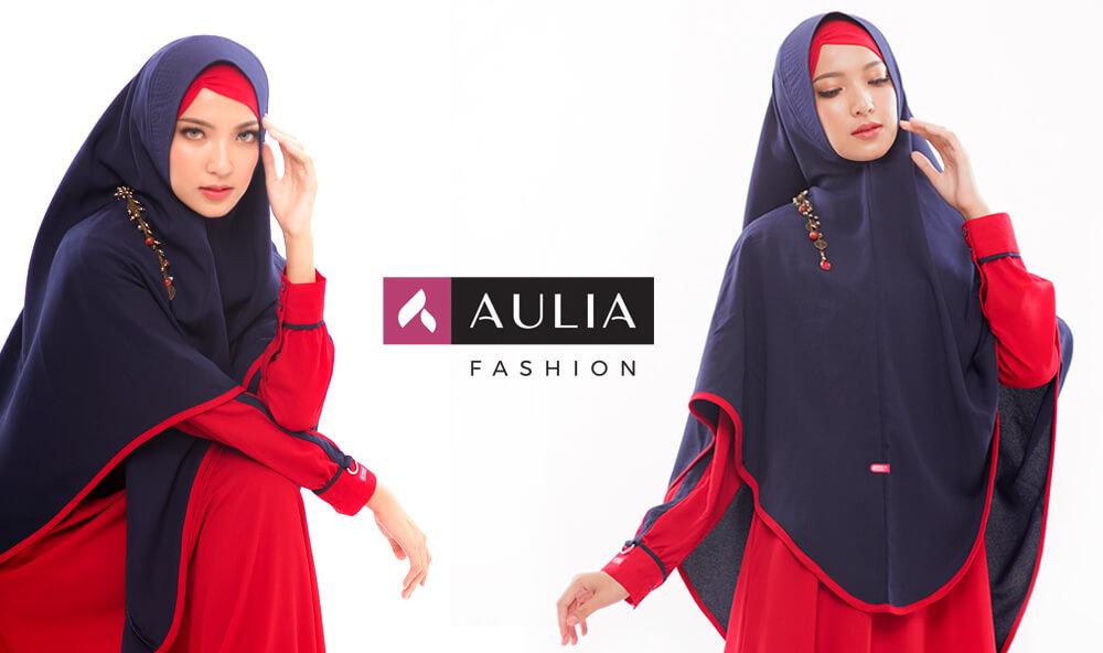 gamis warna scarlet - yumnaa scarlet Aulia Fashion