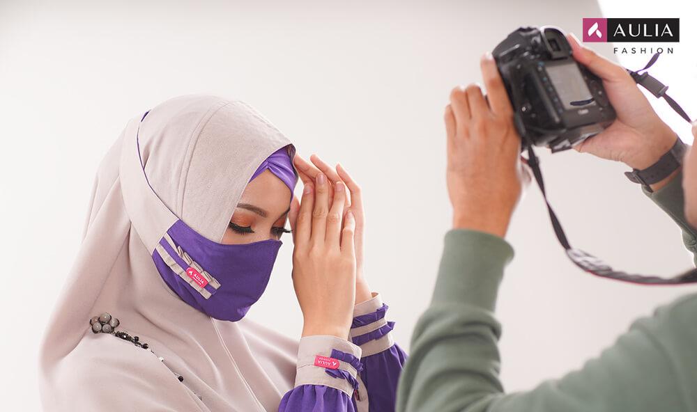 tips foto produk fashion gamis aulia fashion