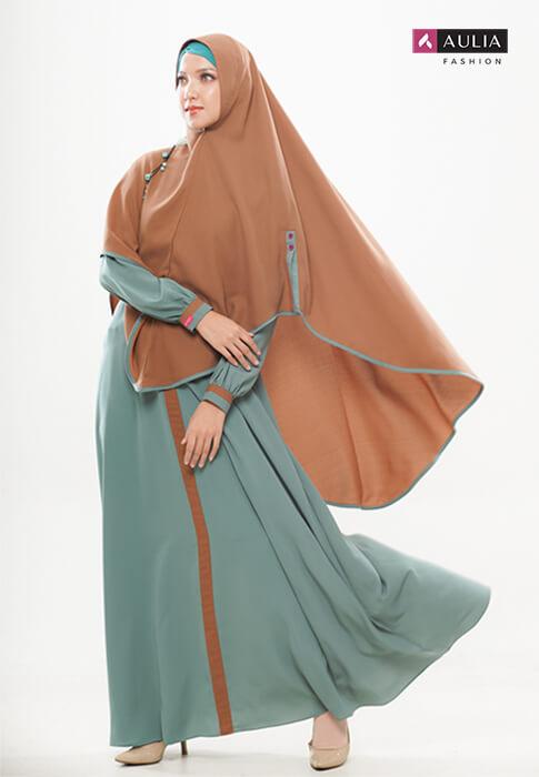 gamis Shafara warna turkish by Aulia Fashion 1