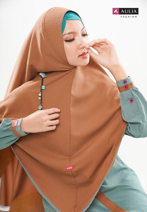 gamis Shafara warna turkish by Aulia Fashion 2
