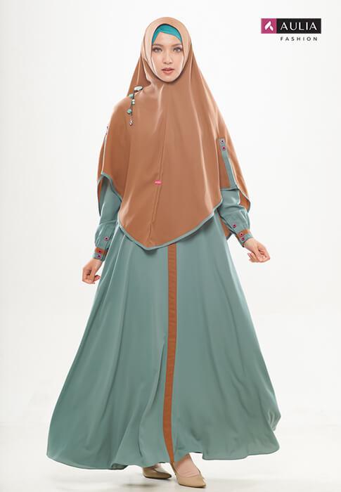 gamis Shafara warna turkish by Aulia Fashion 3