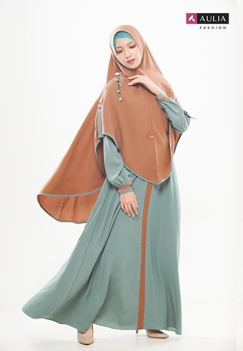 gamis Shafara warna turkish by Aulia Fashion 4
