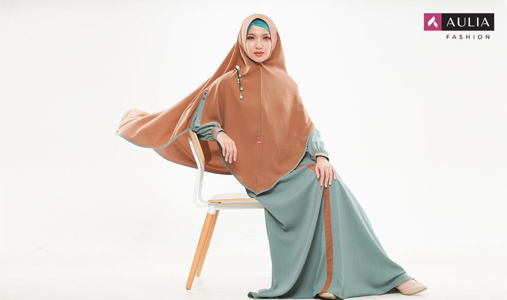 gamis Shafara warna turkish by Aulia Fashion