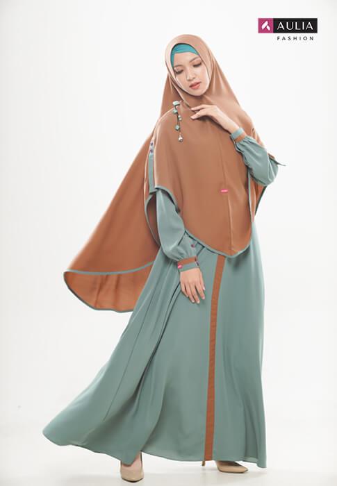 padupadan gamis warna coral - Aulia Fashion 2