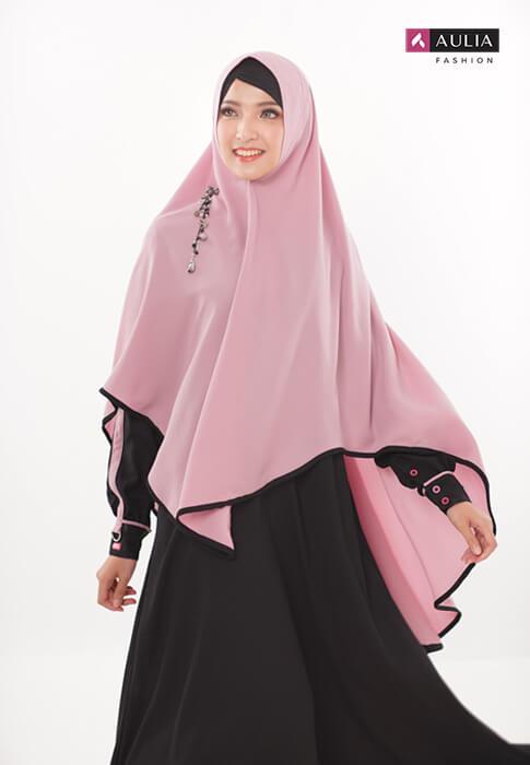 padupadan gamis warna coral - Aulia Fashion 3