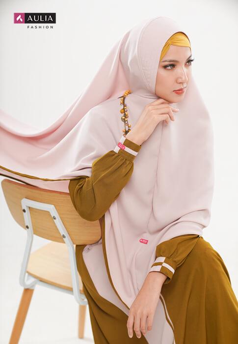 padupadan gamis warna coral - Aulia Fashion 4