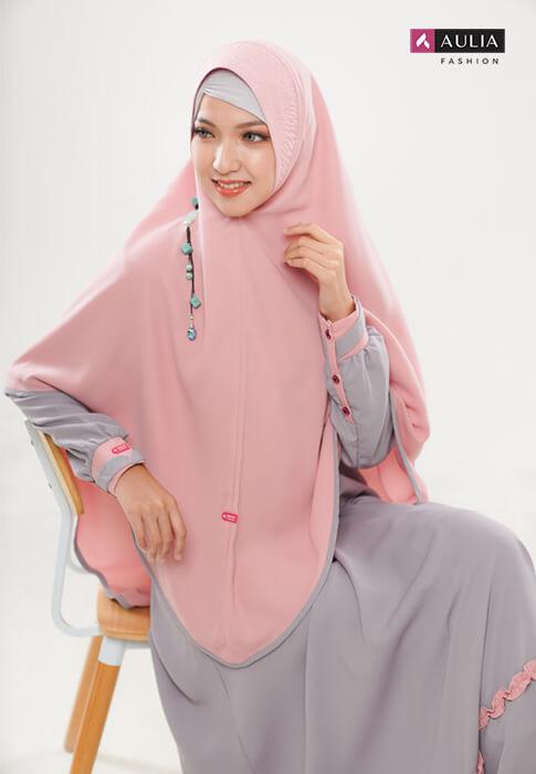 padupadan gamis warna coral - Aulia Fashion 5