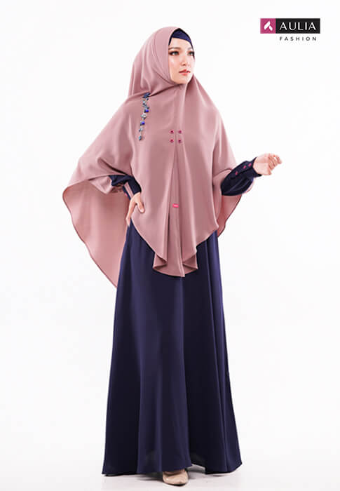 padupadan gamis warna choco by Aulia Fashion (3)
