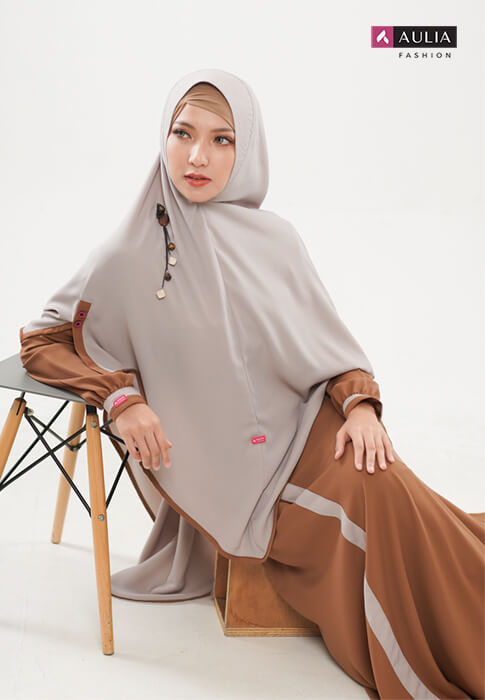 padupadan gamis warna choco by Aulia Fashion (5)