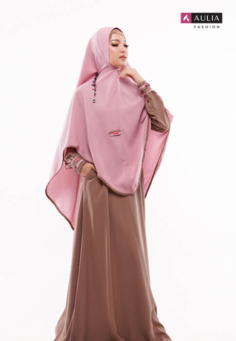 padupadan gamis warna choco by Aulia Fashion (6)