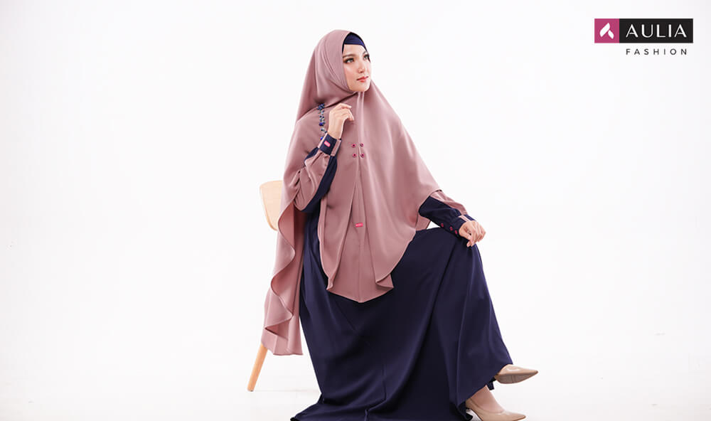 padupadan gamis warna choco by Aulia Fashion