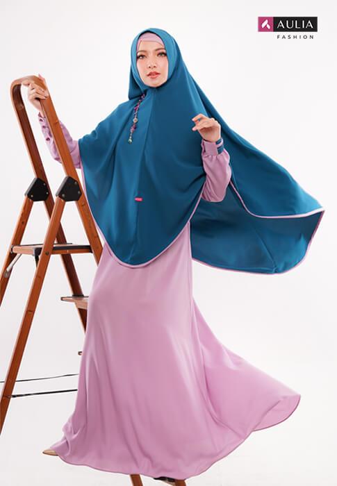 karakteristik gamis bahan wollycrepe by Aulia Fashion 3
