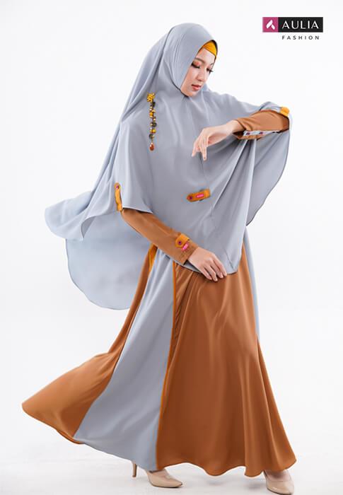 karakteristik gamis bahan wollycrepe by Aulia Fashion 5