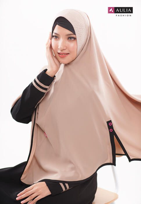 karakteristik gamis bahan wollycrepe by Aulia Fashion 7
