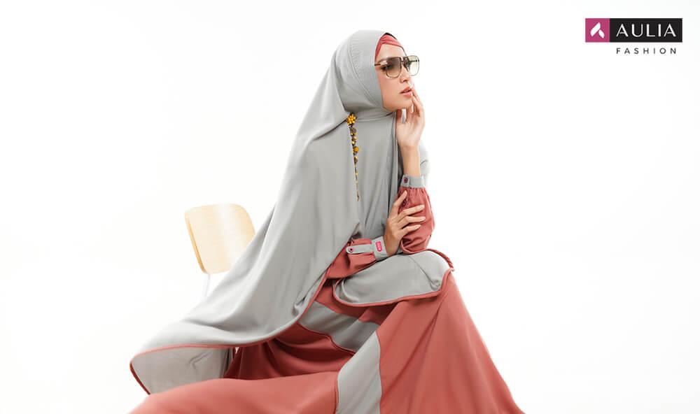 karakteristik gamis bahan wollycrepe by Aulia Fashion