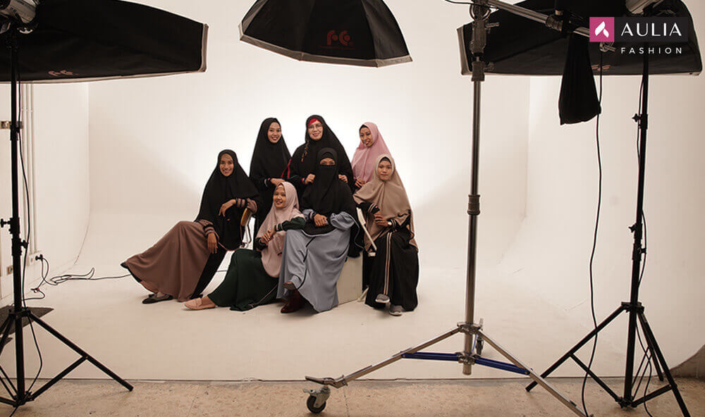 tips photoshoot dengan gamis aulia fashion 1