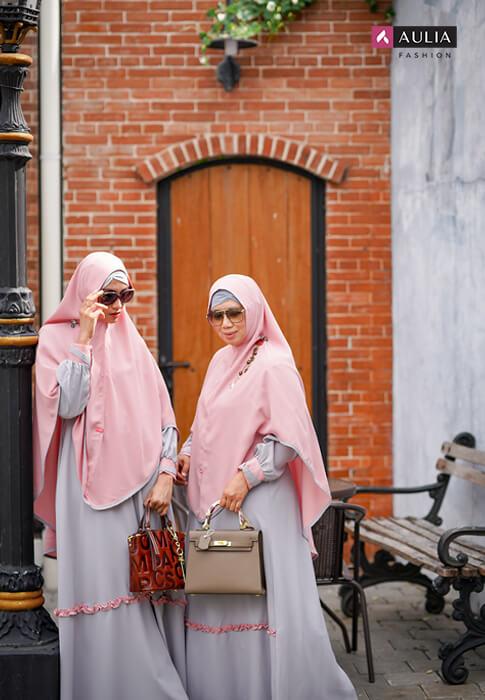 tips photoshoot dengan gamis aulia fashion 2