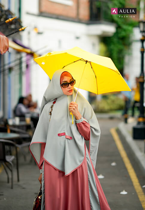 tips photoshoot dengan gamis aulia fashion 5