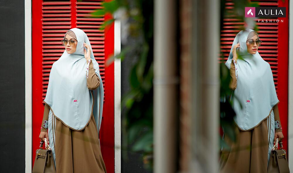 tips photoshoot dengan gamis aulia fashion