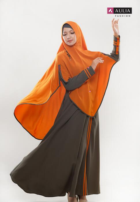 perpaduan warna cerah ceria gamis Aulia Fashion 1