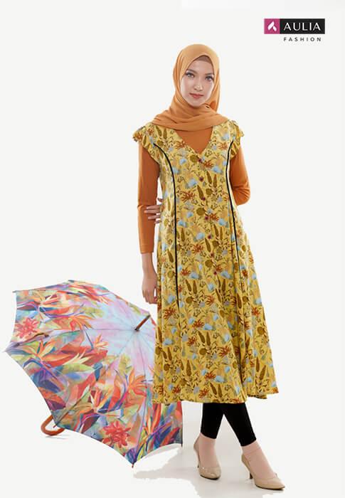 perpaduan warna cerah ceria gamis Aulia Fashion 2