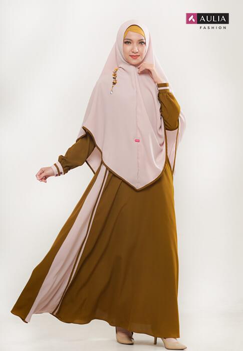 perpaduan warna cerah ceria gamis Aulia Fashion 3