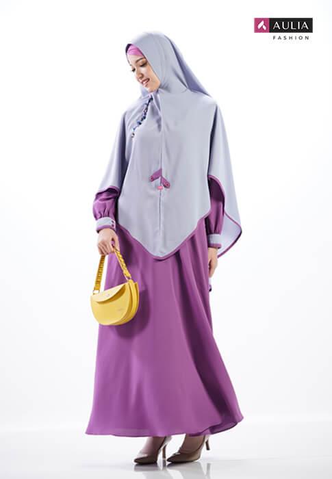perpaduan warna cerah ceria gamis Aulia Fashion 5
